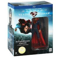 Человек из стали (Blu-ray + фигурка Супермена + 3 открытки)