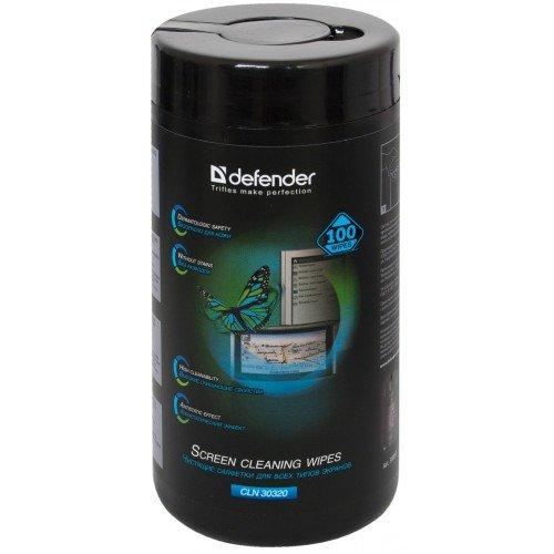 Чистящиe cалфетки DEFENDER для экранов  туба  CLN30320