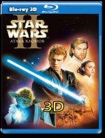Звездные войны 2 Атака клонов 3D (Blu-ray)