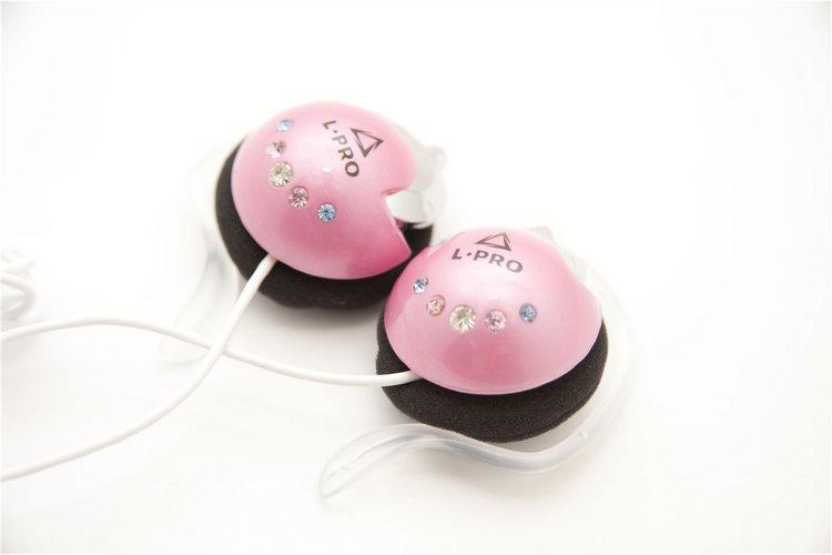 Наушники L-PRO APQ 68MP клипсы розовые \10