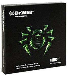 Антивирус Dr.Web для Mac OS X + Dr.Web Security Space (на 1 ПК). Лицензия сроком на 2 года (PC CD)