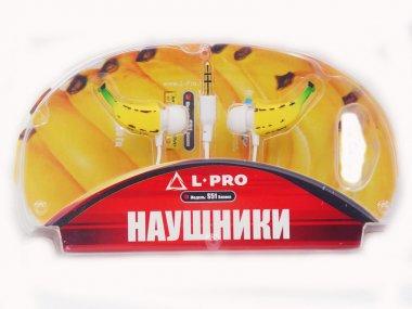 Наушники L-PRO S 51 MP вкладыши BANANA