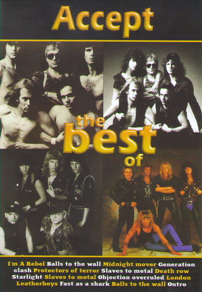 Accept The Best (Клипы / Live Sophia / Accept Metal Blast From The Past) на DVD