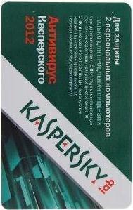 Kaspersky Anti Virus (Антивирус Касперского) 2012 Russian Edition 2 Desktop 1 year Renewal Card
