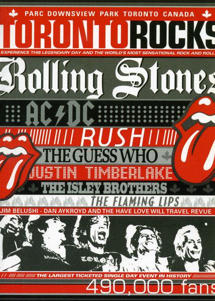 Toronto Rocks -  Rolling Stones, Ac/Dc, Rush, The Guess Who, Justin Timberlake на DVD
