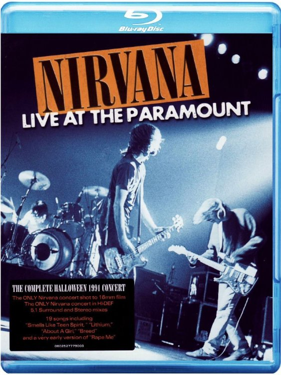 Nirvana Live at the Paramount (Blu-ray)* на Blu-ray