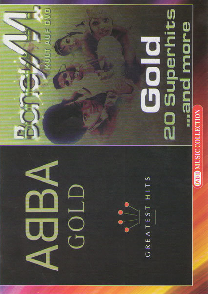 Abba Gold greatest hits / Boney M Gold 20 superhits and more на DVD