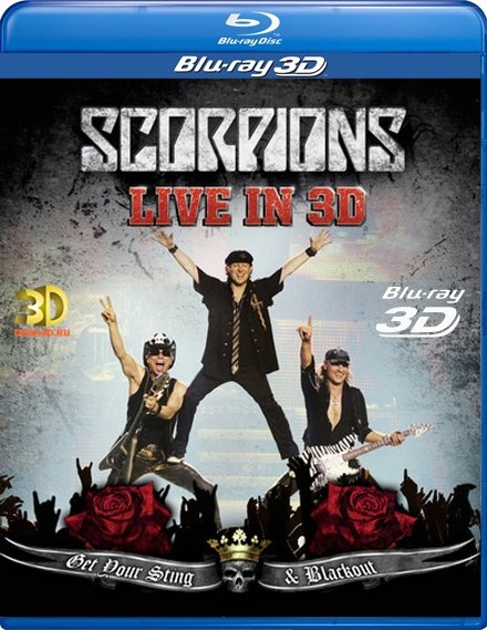 Scorpions Live Get Your Sting Blackout 3D (Blu-ray 50GB)