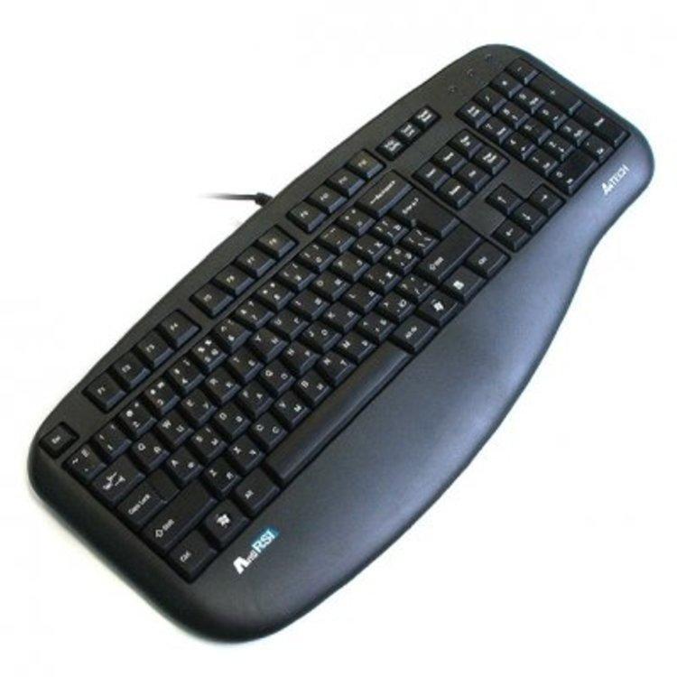 Клавиатура A4 KL-30 слим черная PS\2