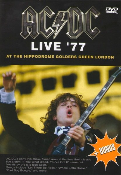 AC/DC - Live` 77 At The Hippodrome Golders Green London на DVD