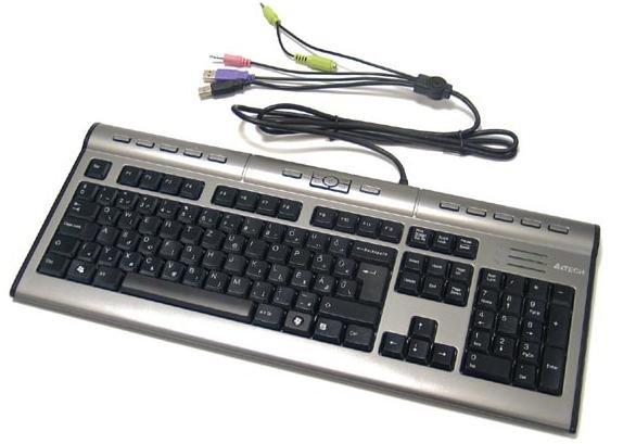 Клавиатура A4 KL-7MUU слим17 дополнительных клавиш USB
