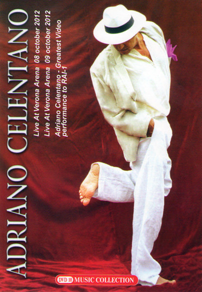 Adriano Celentano Live at Verona Arena 08 october 2012 / Live at Verona Arena 09 october 2012 / Adriano Celentano Greatest Video perfomance to RAI 1 на DVD