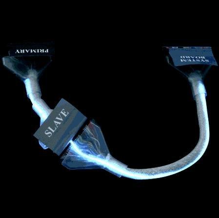Кабель EIDE/133 круглый с прямой неоновой лампой 45 см CC-IDE ROUND NEON1