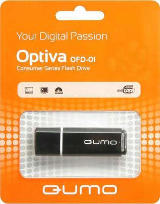 Флеш-карта Flash Drive 8 GB USB QUMO Optiva 01 Black