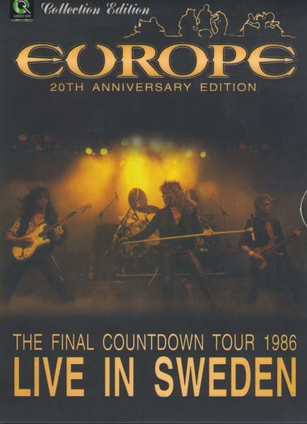 Europe The final Countdown tour live in Sweden на DVD