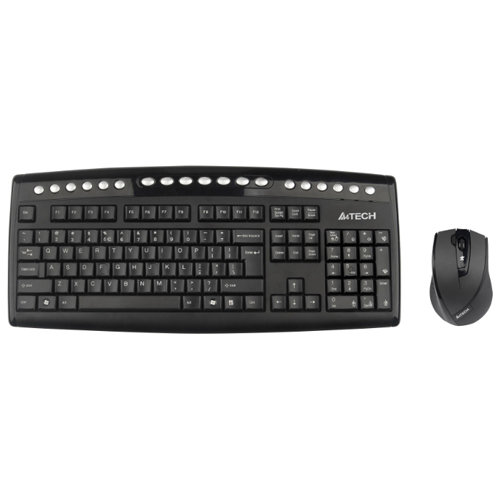 Комплект клавиатура+мышь A4 TECH 9100F  радио оптика V-track USB Black