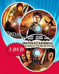 Пираты Карибского моря Трилогия / Властелин колец Трилогия / Гарри Поттер (Позитив-мультимедиа) (11 DVD) на DVD