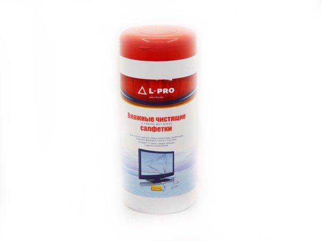 1200 L-Pro - влажные салфетки д/экранов мониторов (100 шт)
