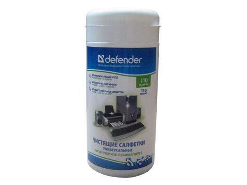 Чистящиe салфетки DEFENDER универсальные туба 100шт CLN30100